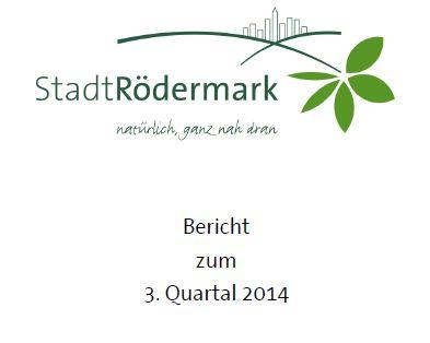 Rödermark. Quartalsbericht 03/2014