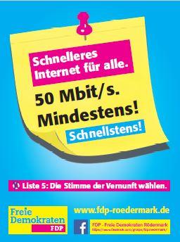 Breitband. Schnelles Internet für Rödermark.