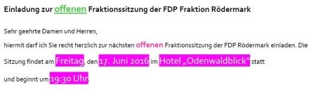 FDP Fraktionssitzung 17.06.2015