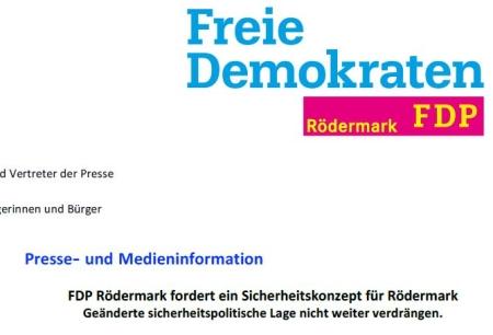 FDP Rödermark. Sicherheiztskonzept